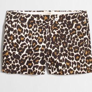 J. Crew Factory basketweave leopard print shorts 8